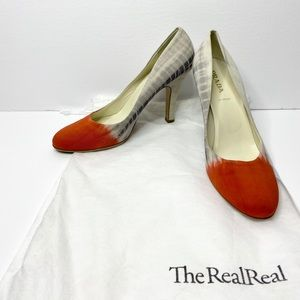 Authentic Prada Fabric Dyed Classic Pumps